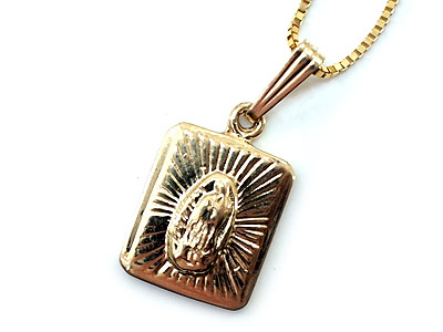 Supreme virgin of guadalupe pendant 14k mozeypictures Choice Image
